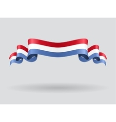 Luxembourg wavy flag vector image vector image