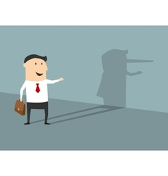Lying businessman in flat cartoon style vector