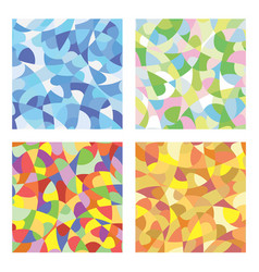 Mosaic seasons vector
