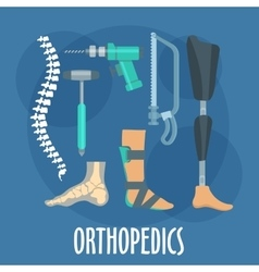 Orthopedics and prosthetics icon for clinic design vector image vector image