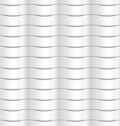 Paper white seamless wavy pattern vector image vector image