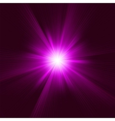 Purple abstract explosion vector image vector image