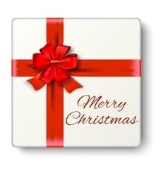Realistic gift icon isolated on white background vector image