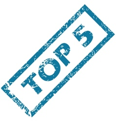Rubber stamp TOP 5 vector image