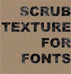Scrub texture vector image