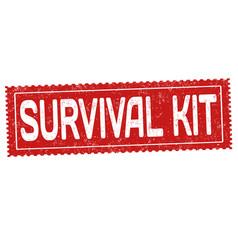 Survival kit grunge rubber stamp vector