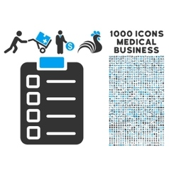 Test task icon with 1000 medical business symbols vector