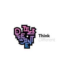 Think different phrase graffiti logo sign vector image