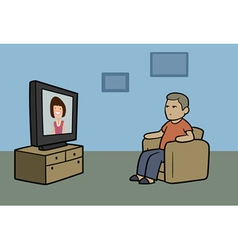 TV watcher vector image