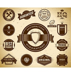 Vintage labels Collection 7 vector image vector image