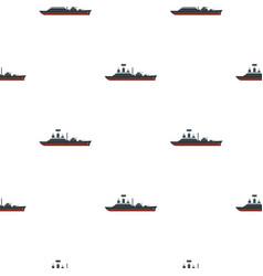 Warship pattern flat vector