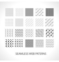 Web patterns set for your works with ready vector