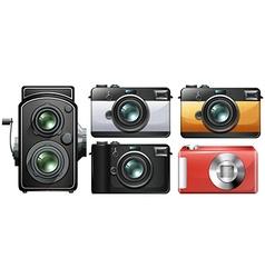 Set of vintage cameras vector image