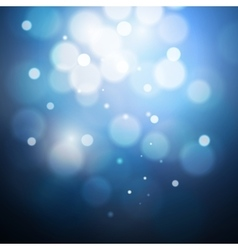Blue bokeh background created by lights vector