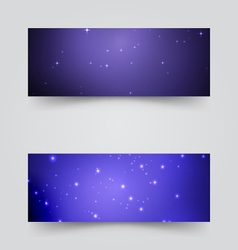 Banners with the starry sky vector