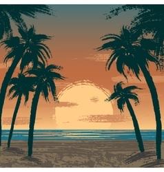 Venice beach Los Angeles vector image
