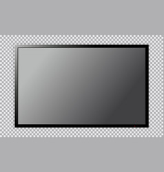Modern tv with blank screen isolated on vector