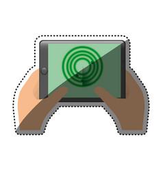 smartphone radar technology vector image
