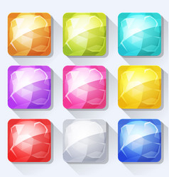 Gems and jewel icons and buttons set for mobile vector