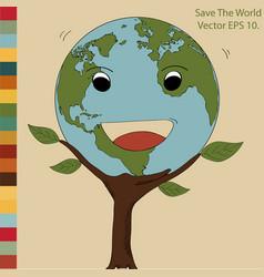 World map earth globe for save world vector