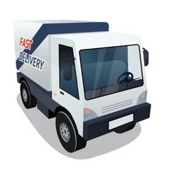 Delivery cargo truck graphic on white background vector
