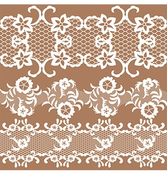 Set of beautiful lace trims vector