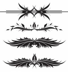 floral design ornaments vector image