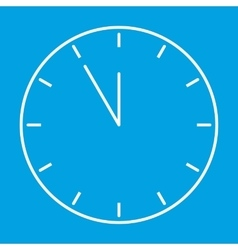 Clock thin line icon vector