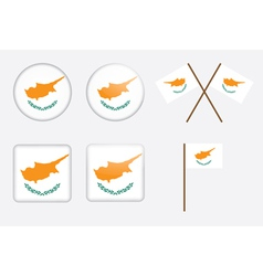 Badges with flag of cyprus vector