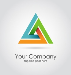 Abstract triangle company logo vector