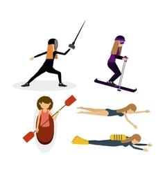 Athlete avatar design vector