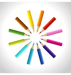 Background with colored pencils conceptual vector image