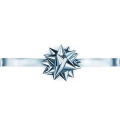 Big shiny bow with horizontal ribbon vector