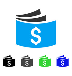 Checkbook flat icon vector