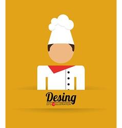Chef man vector