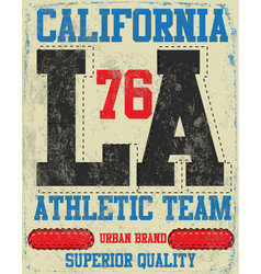 College los angeles typography t-shirt graphics vector