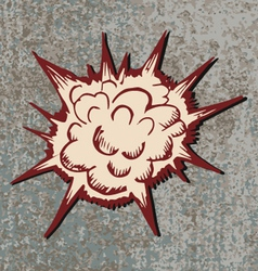 comic Explosion bomb vector image vector image