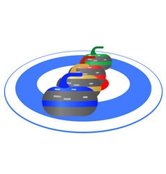 Curling vector image vector image