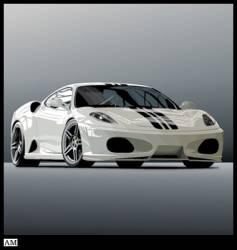 Ferrari vector image vector image