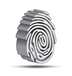 finger print logo vector image vector image