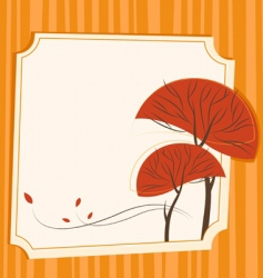 frame with tree vector image vector image