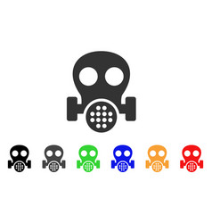 gas mask icon vector image