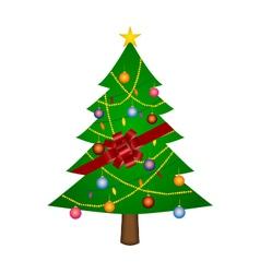 Gift Christmas Tree vector image