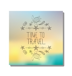 Hand drawn lettering time to travel vector image