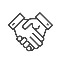 handshake thin line icon vector image