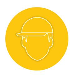 head worker with helmet vector image