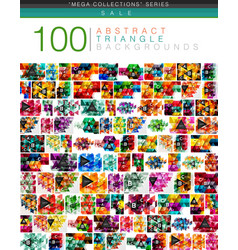 mega collection of 100 triangle abstract vector image vector image