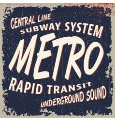 Metro vintage stamp vector image vector image