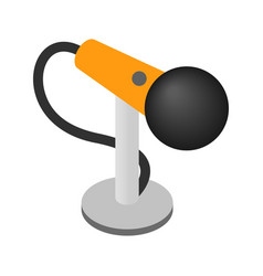 Microphone isometric 3d icon vector