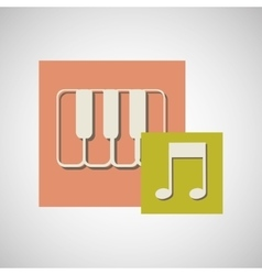 musical instrument design vector image vector image